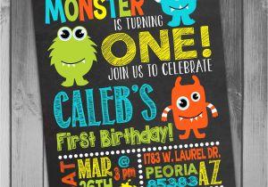 Monster theme Party Invitations Monster Birthday Invitation Little Monster Invitation Monster