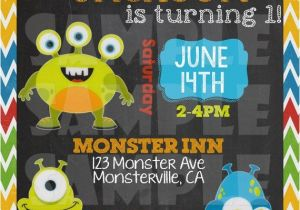 Monster theme Party Invitations Monster Birthday Invitation Quot Little Monster Invitation