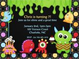 Monster theme Party Invitations Monster themed Birthday Invitations Best Party Ideas