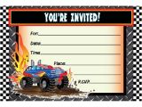 Monster Truck Birthday Invitations Party City Awesome Monster Truck Birthday Invitations Ideas Free