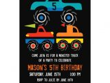 Monster Truck Birthday Invitations Party City Big Monster Trucks Birthday Party Invitations Zazzle
