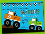 Monster Truck Birthday Invitations Party City Items Similar to Printable Digital Monster Truck Birthday