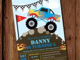 Monster Truck Birthday Invitations Party City Monster Truck Invitation Monster Truck Birthday Invitation