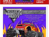 Monster Truck Birthday Invitations Party City Monster Truck Party Mommas