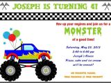 Monster Truck Party Invitations Free Free Printable Monster Truck Birthday Invitations Drevio