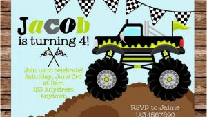 Monster Truck Party Invitations Free Free Printable Monster Truck Birthday Invitations Free