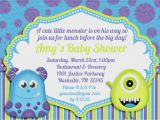 Monsters Inc Baby Shower Invites Little Monster Baby Shower Invitation by Amandacreation On