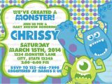 Monsters Inc Baby Shower Invites Monster Inc Baby Shower Invitations