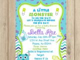 Monsters Inc Baby Shower Invites Monsters Inc Baby Shower Invitation Diy by Poppypaper Pany