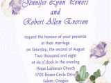 Morning Wedding Invitations Country Style Purple Morning Glory Spring Wedding
