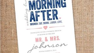 Morning Wedding Invitations the Morning after Wedding Brunch Invitation 5 by