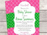 Moroccan Baby Shower Invitations Baby Shower Invitation In Moroccan Pink Custom by