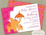 Moroccan Baby Shower Invitations Elephant Baby Shower Invitation Moroccan Baby Shower