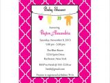 Moroccan Style Baby Shower Invitations Baby Shower Invitation Moroccan Clothesline Invitation