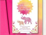 Moroccan Style Baby Shower Invitations Moroccan Baby Shower Invitation Watercolor Sunset Elephant