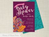 Moroccan Style Baby Shower Invitations Moroccan Baby Shower Invite Baby Girl Baby Shower Boho