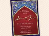 Moroccan themed Bridal Shower Invitations Moroccan themed Bridal Shower Invitation