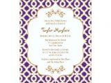 Moroccan themed Bridal Shower Invitations Purple and Gold Moroccan Bridal Shower Invites