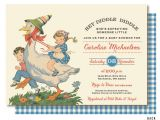 Mother Goose Baby Shower Invitations Mother Goose Baby Shower Nursery Rhyme Baby Shower