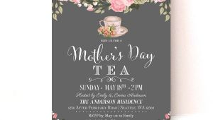 Mother S Day Tea Party Invitation Wording Mother S Day Invitation Mother S Day Tea Party