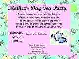 Mother S Day Tea Party Invitation Wording Mothers Day Tea Invitations Free Printable