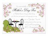 Mother S Day Tea Party Invitation Wording Tea In the Garden 5×7 Paper Invitation Card
