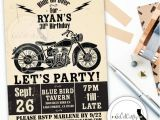 Motorcycle Birthday Party Invitations Motorcycle Birthday Party Invitation Poster Vintage by