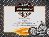 Motorcycle Birthday Party Invitations Motorcycle Custom Designed Birthday Invitation with or