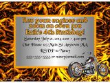 Motorcycle Birthday Party Invitations Motorcycle theme Birthday Party Invitations Crafty Chick
