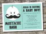 Moustache Baby Shower Invitations Mustache Baby Shower Invitation Templates