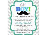 Moustache Baby Shower Invitations Oh Boy Mustache Baby Shower Invitations Chevron