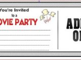 Movie Party Invitations Free Printable Amazing Movie Birthday Party Invitations to Inspire You