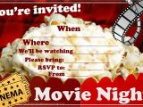Movie Party Invitations Free Printable Invitations for Sleepover Party