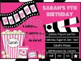 Movie Party Invitations Free Printable Movie Birthday Invitation Movie Night Party Invitations