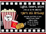 Movie Party Invitations Free Printable Movie Birthday Invitations Movie Night Birthday Party