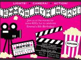 Movie Party Invitations Free Printable Movie Invitations Template Resume Builder