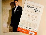 Movie Premiere Party Invitations James Bond Movies Quantum Of solace Royal World Premiere