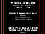 Movie Premiere Party Invitations Movie Premiere Invitations
