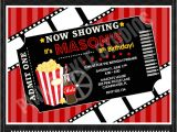 Movie Premiere Party Invitations Movie Ticket Personalized Party Invitation