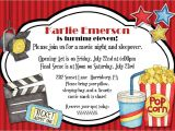 Movie theater Birthday Party Invitations 3 Nice Movie Night Birthday Party Invitations