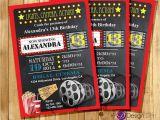 Movie theater Birthday Party Invitations Custom Movie Cinema theater Birthday Party Invitations Kids