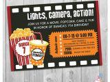Movie theater Birthday Party Invitations Movie Party Invitation Printable Boys or Girls Movie