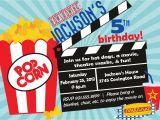 Movie theater Birthday Party Invitations Movie theater Birthday Party Invitations Cimvitation