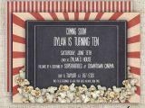 Movie theater Birthday Party Invitations Movie theater Birthday Party Invitations Girl or Boy Printable