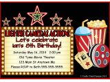 Movie theater Birthday Party Invitations Movie theater Birthday Party Invitations Style 2 Crafty