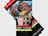 Movie theater Birthday Party Invitations Movie Ticket Invitations theater Birthday Party by nowanorris