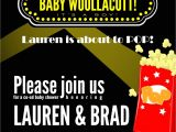 Movie themed Baby Shower Invitations event Confetti Party Time Movie themed Baby Shower