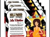 Movie themed Baby Shower Invitations Hollywood Baby Shower Invitations Hollywood Baby