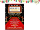 Movie themed Baby Shower Invitations Red Carpet Baby Shower Invitation Hollywood Party by