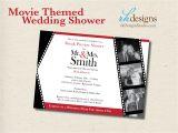 Movie themed Wedding Invites Movie themed Wedding Shower Invitation Digital File